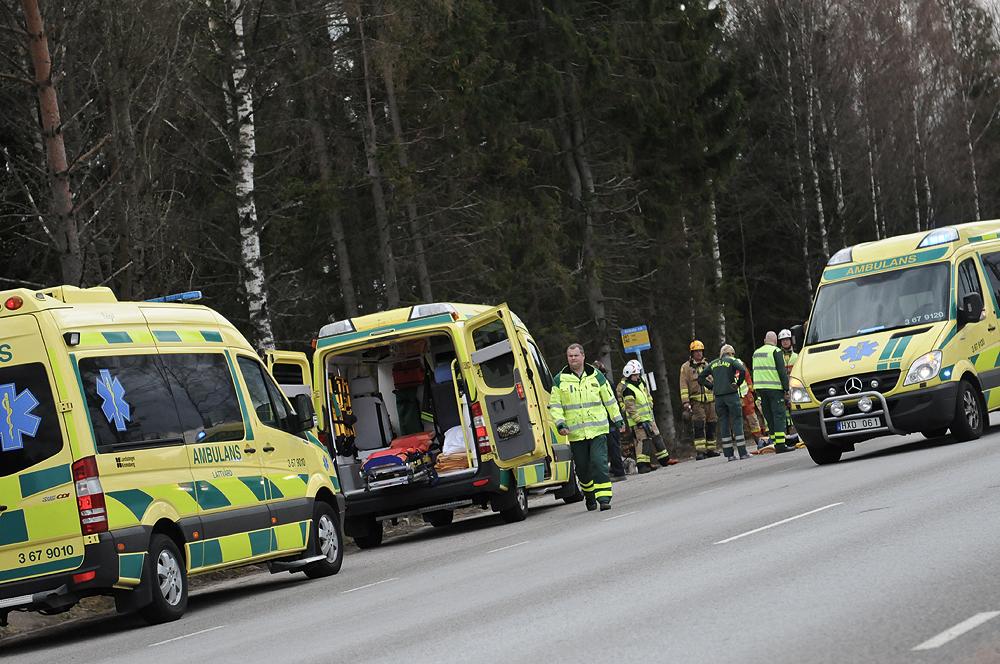Trafikolycka pa vag 120