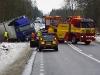 Singel lastbil norr Sigvard & Kollision buss/lastbil söder ÖJA-krysset